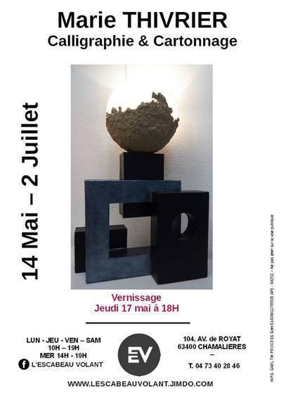Marie Thivrier  : Cartonnage et Calligraphie
