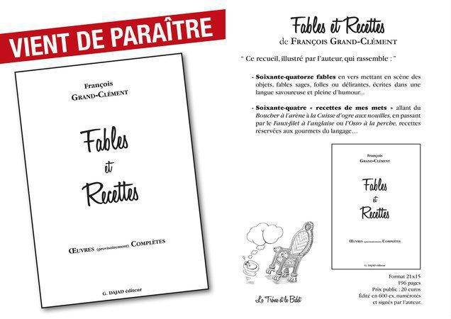 Un Livre De Fables Et De Recettes Farci D Humour