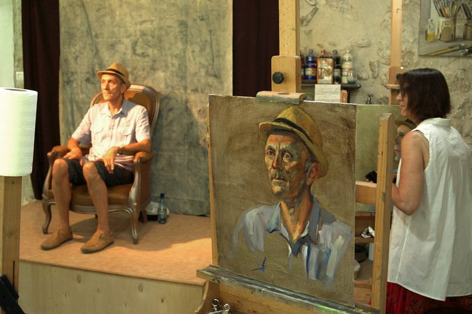 Stage de peinture à l'huile Portrait Atelier