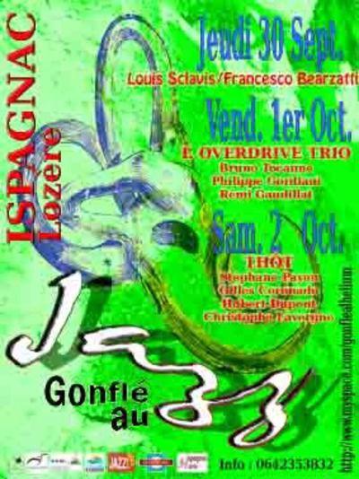 Gonflé au Jazz du 30 septembre au 2 Octobre 2010 Ispagnac Lozère