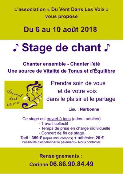 Stage de Chant - Chanter l'été