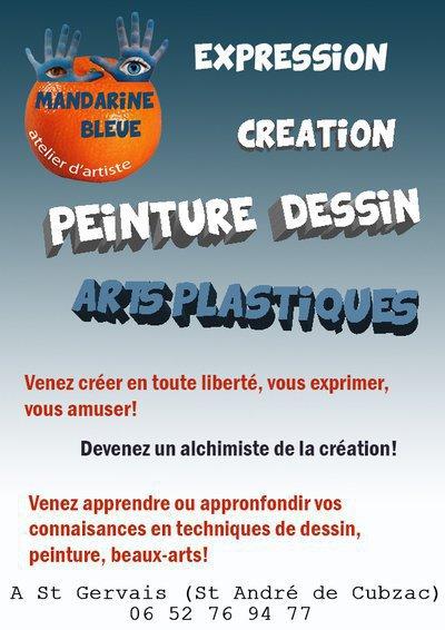 Atelier Mandarine Bleue - Ateliers Arts plastiques, dessin, peinture