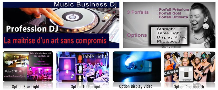 Music Business Dj - Dj - Location Prestation Eclairage sono Photobooth