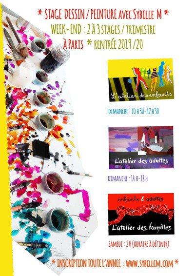 Stages dessin/peinture/collage Paris - Paris 11 - (75011) - Du sam. 12 oct. 19 au dim. 08 déc ...