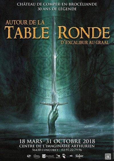 Autour de la table ronde d 39 excalibur au graal concoret - Le cycle arthurien et les chevaliers de la table ronde ...