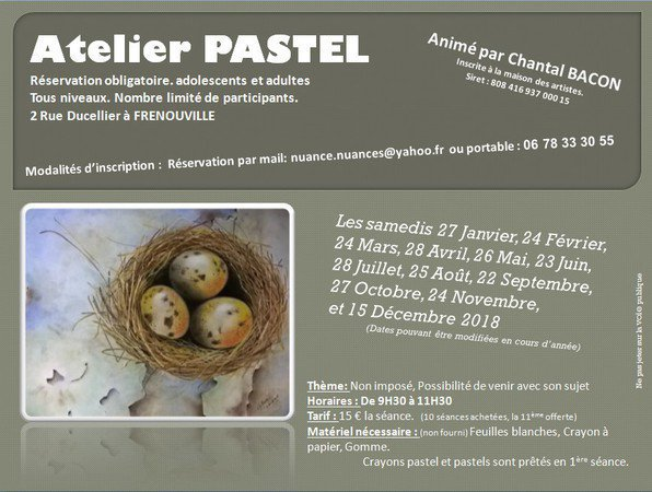 Chantal BACON - ATELIERS PASTEL -