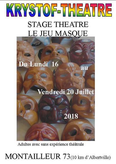 découverte du jeu masqué: les masques de caractère