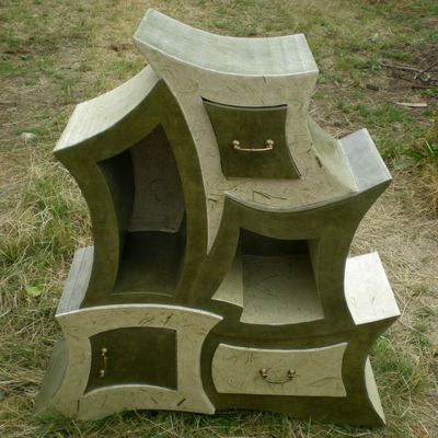 Initiation la fabrication de mobilier en carton les - Fabrication de meubles en carton ...