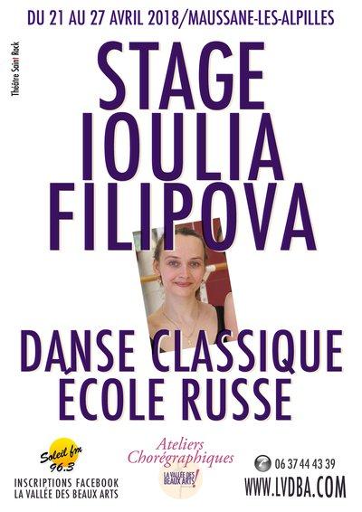 Stage Ioulia Filipova, Danse Classique, école russe