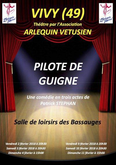 """THEATRE DE COMEDIE """"PILOTE DE GUIGNE"""""""