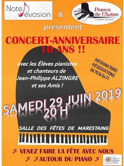 Concert Anniversaire 10 Ans Des Pianos De L Autan