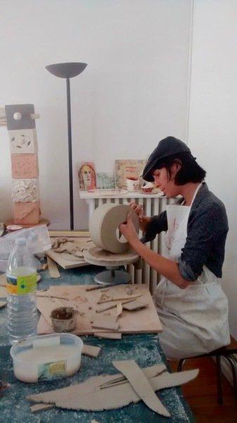 Atelier Autres Terres - COURS DE  SCULPTURE-MODELAGE et CÉRAMIQUE RAKU - rentrée 2017