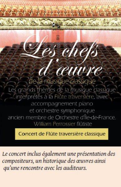 William Parrossier - Concert de musique classique Flûte traversiere