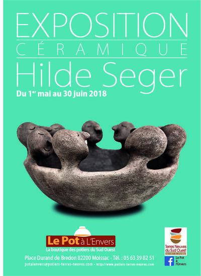Expo mai-juin 2018: Hilde Segers au Pot à L'Envers à Moissac