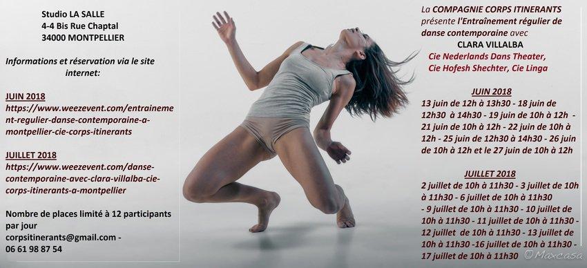 Cie Corps Itinérants  -  Danse contemporaine Clara Villalba