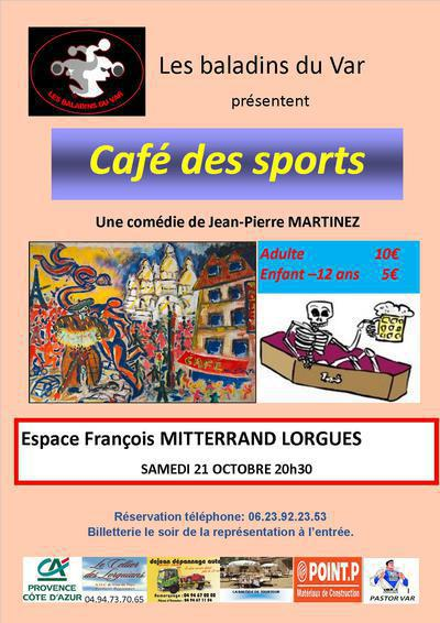 """Comédie : """"Café des Sports"""", de Jean Pierre MARTINEZ."""