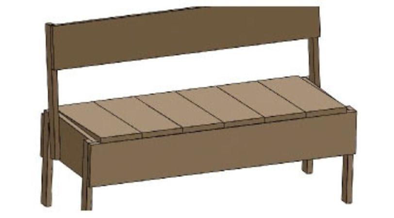 faire soi m me un banc en bois tr duder 22310 sam. Black Bedroom Furniture Sets. Home Design Ideas