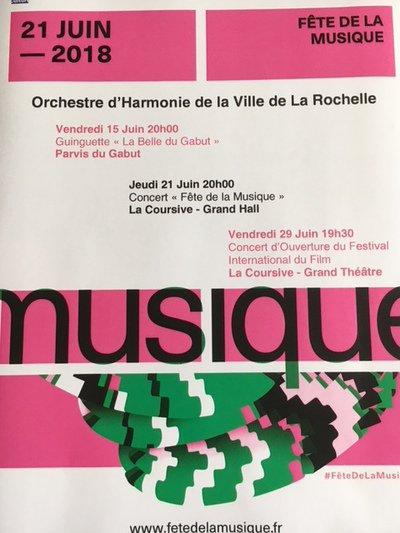 Orchestre d'Harmonie de la Ville de La Rochelle - juin 2018