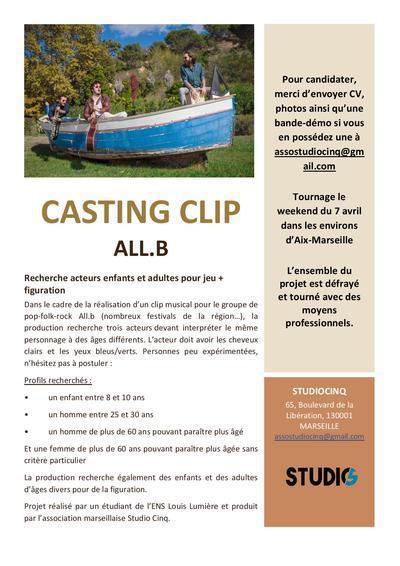Casting Enfants & Adultes pour un Clip tourné dans le sud
