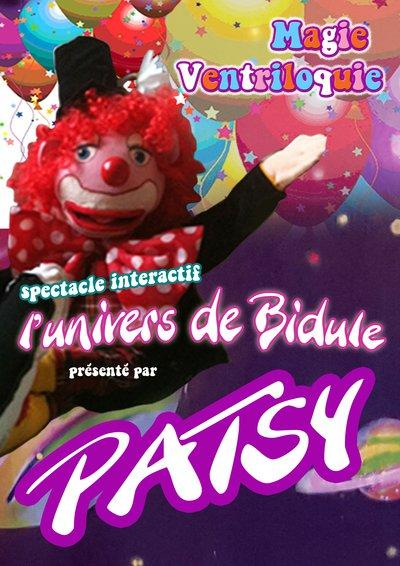 Le clown PATSY propose un spectacle de magie interactif et ventriloquie