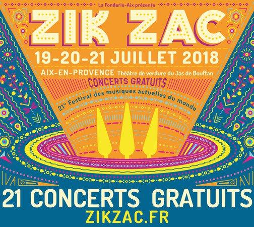 ZIK ZAC FESTIVAL - 19 au 21 JUILLET 2018