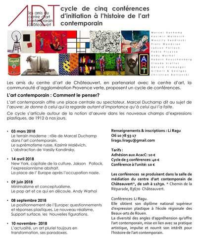 Conférences d'initiation à l'Histoire de l'Art contemporain