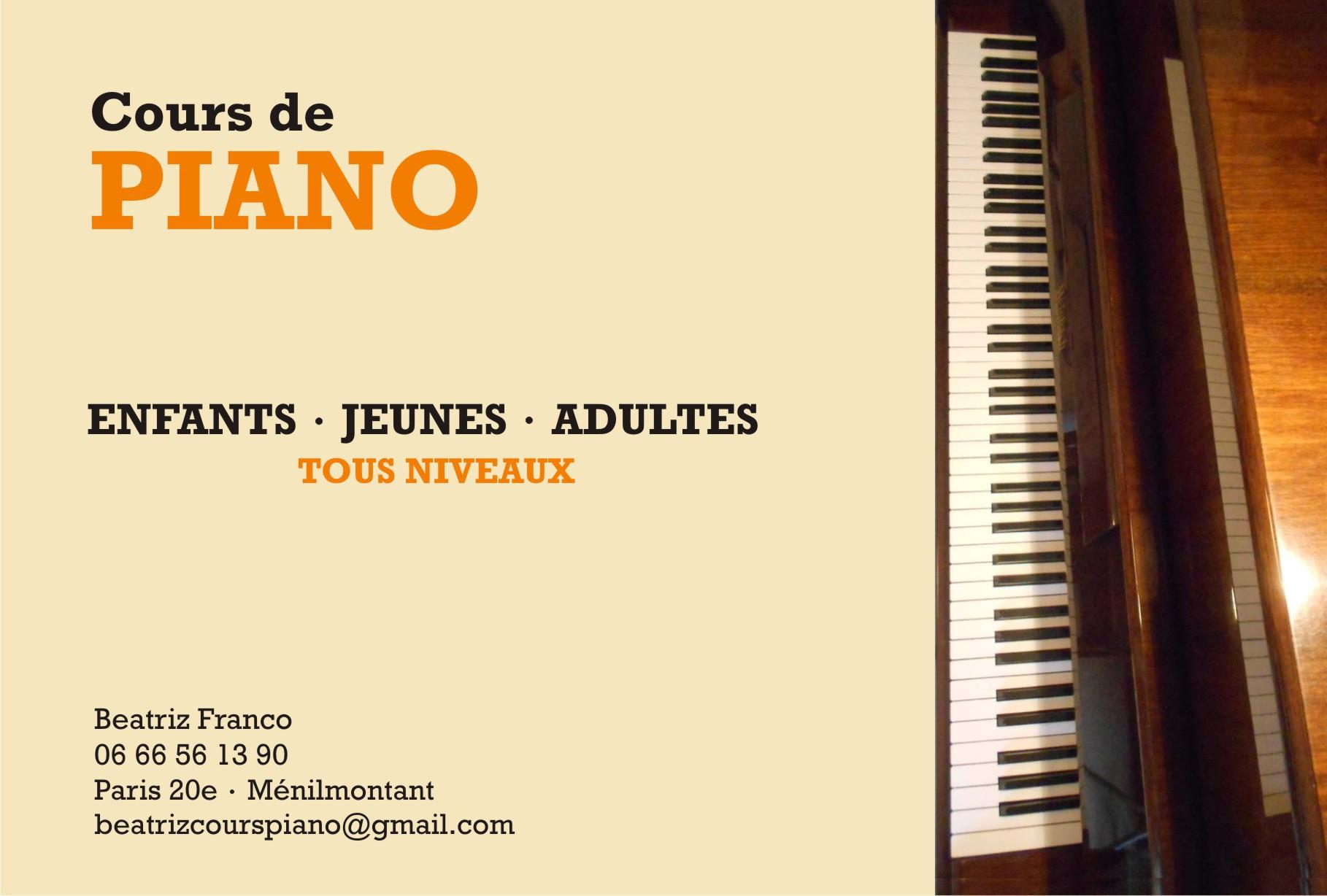 Cours de piano paris paris 20 75020 - Cours de piano montpellier ...