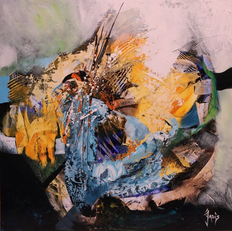 Häufig Jadis Artiste peintre abstrait - Anjoutey - (90170) SG83