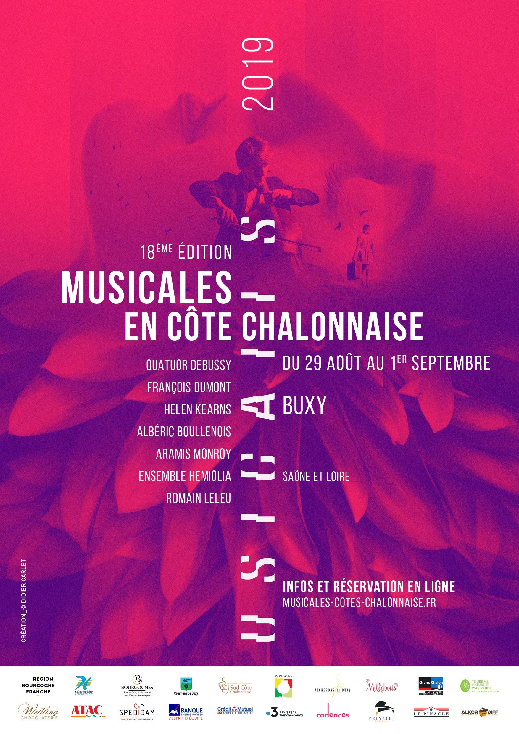 Festival Musicales En Cote Chalonnaise 2019