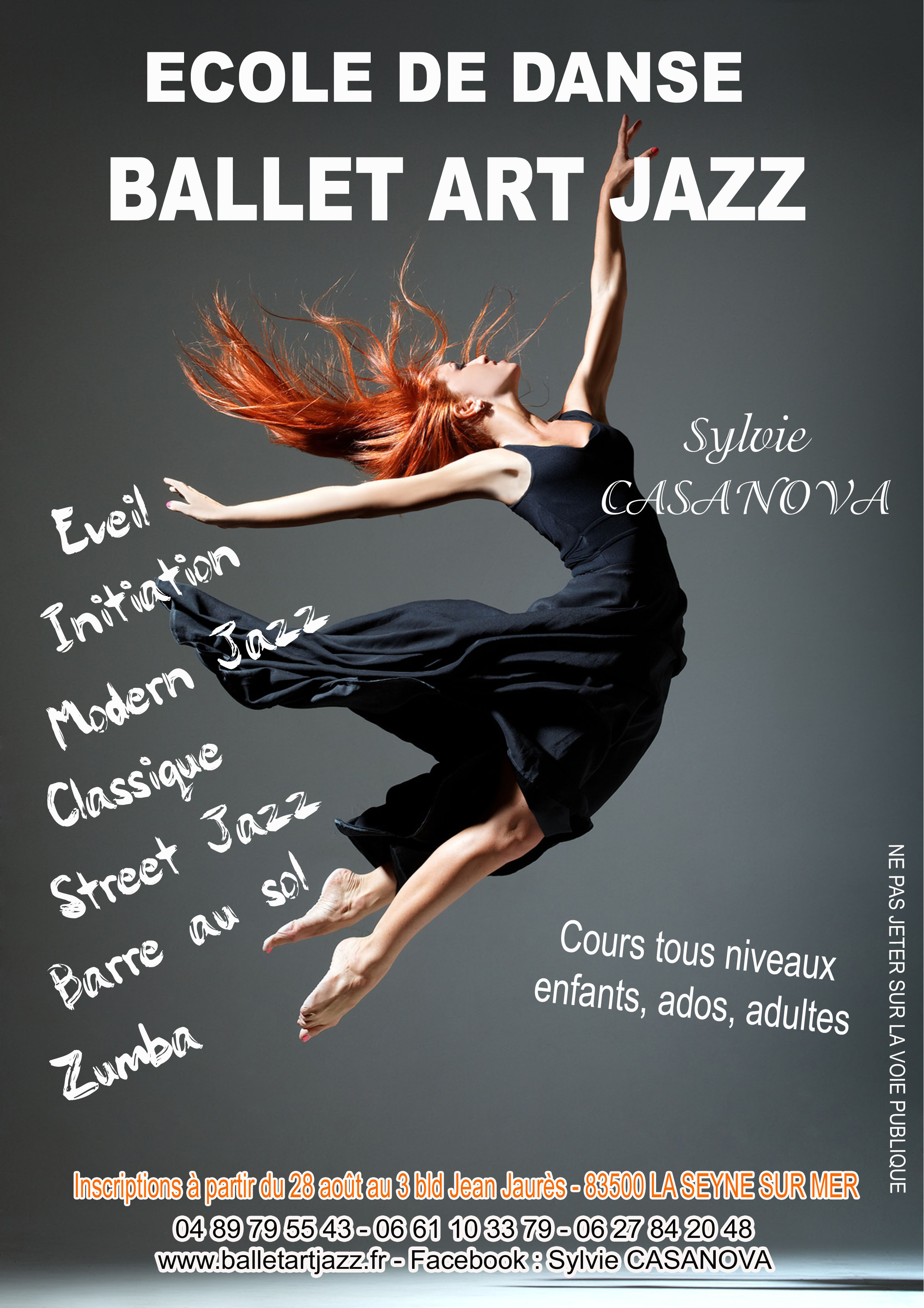 Cole de danse ballet art jazz la seyne sur mer 83500 for Cours ballet adulte