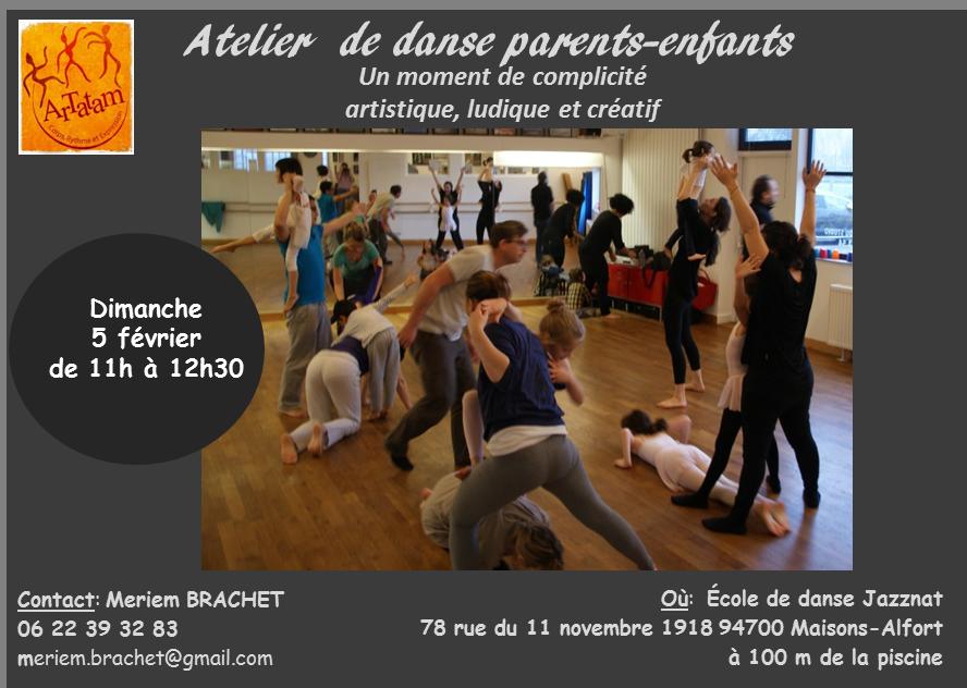 Stage de danse parents enfants maisons alfort 94700 for Danse classique maison alfort