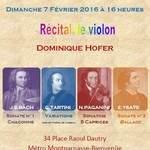 Récital de Violon Dominique Hofer