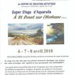 """SUPER STAGE """"AQUARELLE"""" avec Roland PALMAERTS !"""