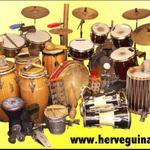 Herve Guinand  - Cours de percussions - Djembe, Congas, Bongos, Cajon, Hang