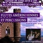 Concert  de flûte  Amérindienne et percussions