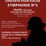 Concert BEETHOVEN  Symphonie n°5 - Concerto pour Violon