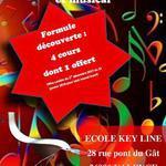 KEYLINE - Cours piano et clavier: offre spéciale fin d'année!