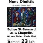 Concert de l'ensemble vocal Nunc Dimittis