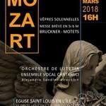 Mozart/Bruckner: concert de musiques sacrées, 25 mars 2018