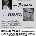 DE RENATA À BREL (chanson française)