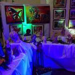 Prestation Lumières pour Vernissage, Exposition Peintures & Sculptures