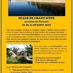 STAGE DE CHANT D'ETE DANS LE VERCORS