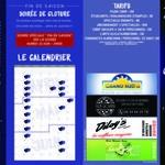 "Programme du ""Théâtre Bleu"" Narbonne."