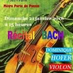 Récital BACH au violon