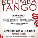 Retumba Tango, vendredi 5 juin 2015 à 20h30, Péniche Anako