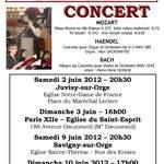 Concert Mozart, Bach et Haendel