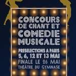 CONCOURS DE CHANT ET COMÉDIE MUSICALE 2018 !