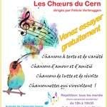 Chorale cherche chanteuses et chanteurs