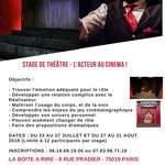 Stage de théâtre : L'acteur au cinéma !