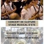 concert de clôture stage musical d'été